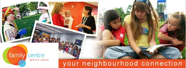 white oaks family centre your neighbourhood connection banner