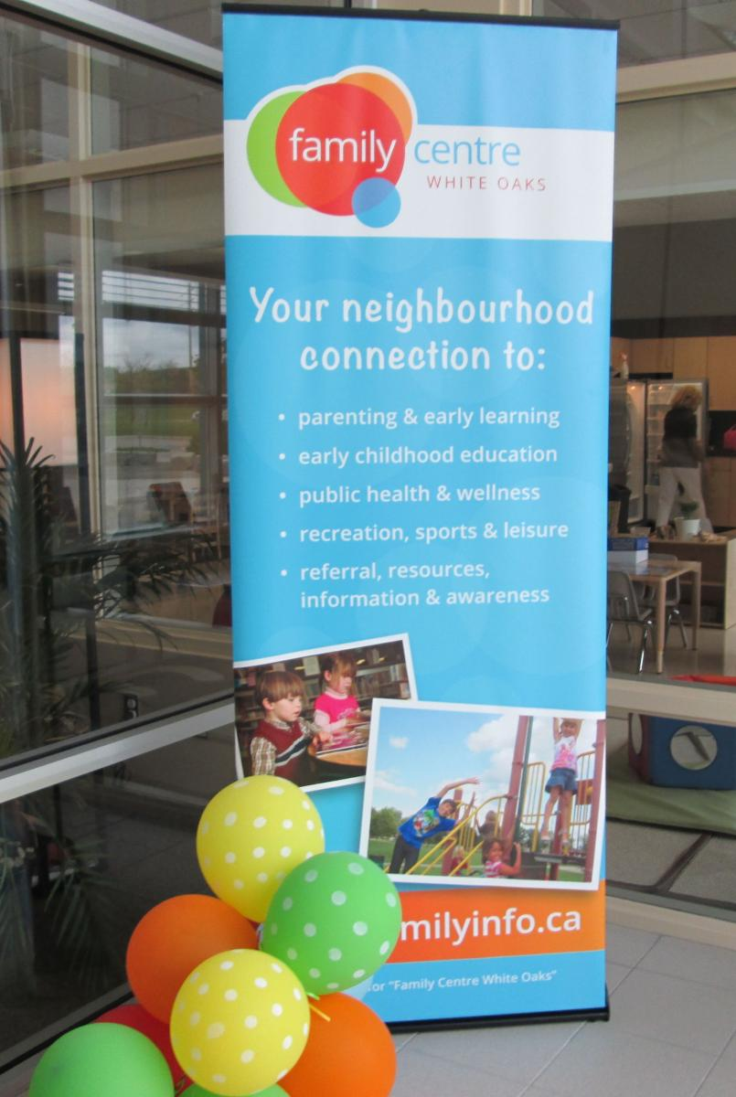 white oaks family centre your neighbourhood connection to event banner